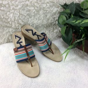Anne Klein Sport Koppa Multicolor Sandals...Sz 9M